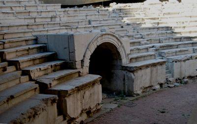 Romerskt stadion i Plovdiv (se även föregående bild).