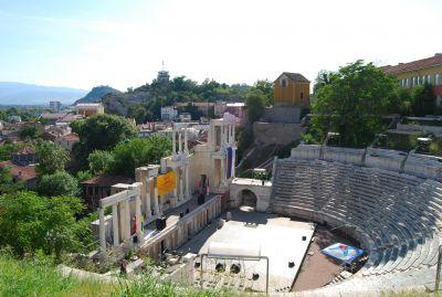 Den romerska amfiteatern i Plovdiv.