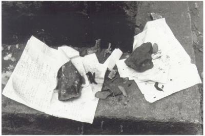 """""""Kveitl"""" på Remuh-begravningsplatsen, Kraków, augusti 1992. Foto: Ulf Irheden."""