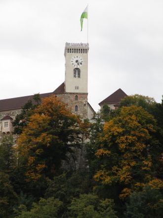 Slottet i Ljubljana.