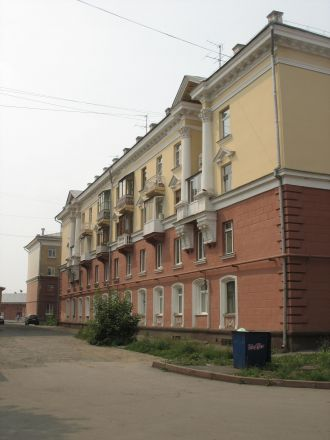 Stalinempire i Kemerovo, ett verk av tyska krigsfångar.
