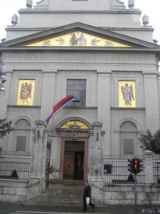 Den serbisk-ortodoxa katedralen i Belgrad.
