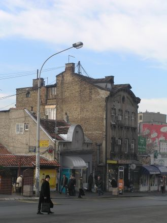 Ett sista foto av Belgrad innan det var dags att stiga på flygbussen.