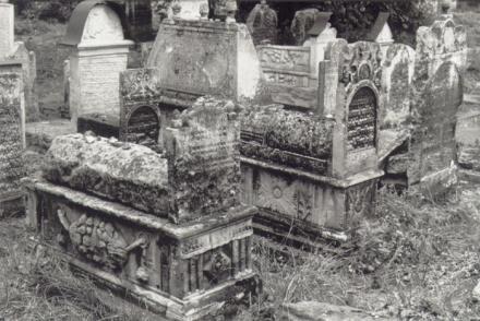 Remuh-begravningsplatsen, gamla delen (renässans), Kraków, augusti 1992. Foto: Ulf Irheden.